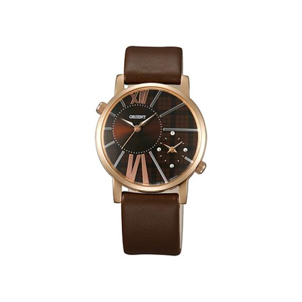 ORIENT FUB8Y006T ORIENT FUB8Y006T Оригинальные женские кварцевые наручные часы с коричневым циферблатом в стальном